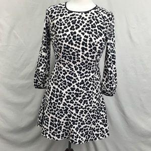 NWT Ann Taylor LOFT Leopard LS Print Shift Dress